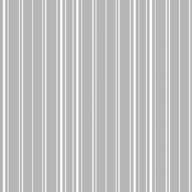 Toile Stripe Reverce (Cotton) - 10 - Light grey coloured cotton fabric, printed with narrow, vertical white stripes