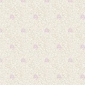 Evora (Cotton) - 1 - White cotton fabric featuring a very small, subtle pattern in light purple and grey