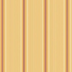 Limoges (Cotton) - 3 - Striped cotton fabric in shades of yellow, red and cream