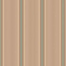 Limoges (Cotton) - 5 - Cotton fabric striped with creamy beige, brown and duck egg blue