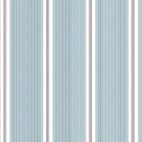 Limoges (Linen Union) - 6 - Fabric made from linen which has been striped with light blue, grey and white