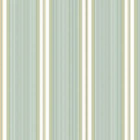 Limoges (Linen Union) - 7 - Light green, duck egg blue and white stripes printed vertically as a pattern for linen fabric