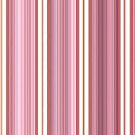 Limoges (Cotton) - 8 - Stripes of pink, dusky red and white repeatedly printed over cotton fabric