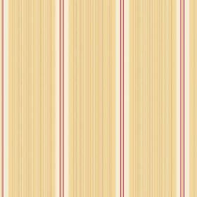 Limoges (Cotton) - 9 - Bands of light yellow covered in vertical lines, between white and red stripes, on fabric made from cotton