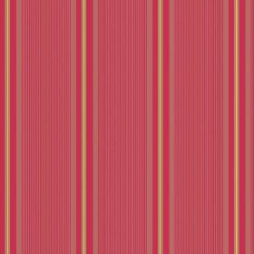 Limoges (Cotton) - 1 - Subtly striped dusky red cotton fabric, featuring intermittent vertical bands of red, salmon pink and gold