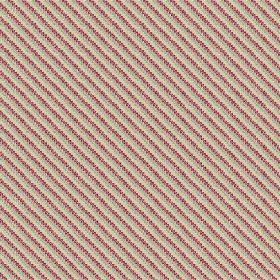 Milena (Linen Union) - 1 - Linen fabric with a striped pattern made up of dusky red, grey and cream coloured dots