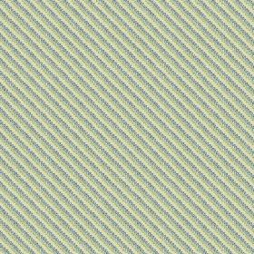 Milena (Cotton) - 2 - Dotted diagonal lines printed on cotton fabric in light blue, green and cream