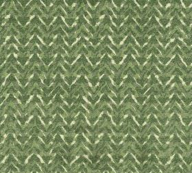 Cotton - Barmillion - 100% cotton fabric covered with a subtle zigzag pattern and variegated colouring in cream and dark shades of green