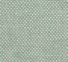 Figured - Linen - Miniscule white designs arranged in neat diagonal rows on a light teal-grey coloured 100% linen fabric background