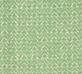 Cotton - Barmillion - 100% cotton fabric covered with a patchily coloured horizontal zigzag pattern in various shades of light green and cre