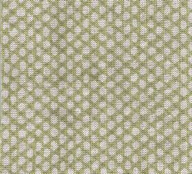 Wicker - Linen - Fabric made from olive green and pale grey coloured 100% cotton with a pattern of neatly arranged uneven oval shapes