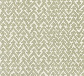 Cotton - Rabanna - Grey-beige and white coloured 100% cotton fabric covered with a zigzag pattern with added arrow features