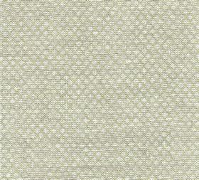 Figured - Linen - N-110 - 100% linen fabric in pale grey and white, featuring a tiny repeated pattern of rows of neatly arranged designs