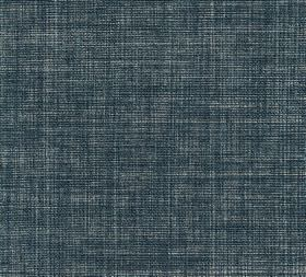 Plain Linen - Copy Book - Fabric made from marine blue coloured 100% linen, featuring a few paler threads running through it