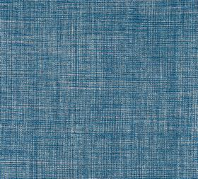 Plain Linen - Overall Blue - Bright Royal blue and white coloured threads woven together into fabric made entirely from linen