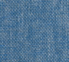Figured - Linen - N-079 - Tiny white dots patterning a patchily coloured bright blue-white fabric made entirely from linen