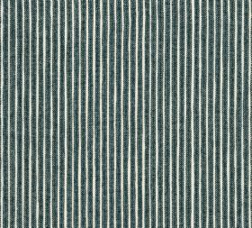 Cotton - Poulton Stripe - Slate coloured vertical stripes interspersed with even narrower white bands on 100% cotton fabric