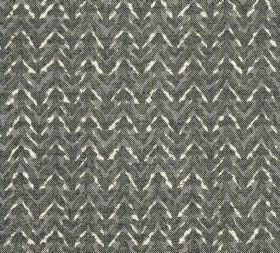 Cotton - Barmillion - 100% cotton fabric patterned with patchily coloured horizontal zigzags in various different shades of grey and white