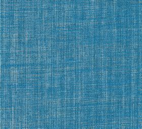 Plain Linen - Malachite - 100% linen fabric woven from both light grey and bright sky blue coloured threads