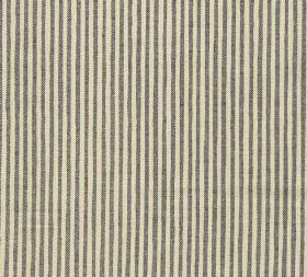 Cotton - Hertford Stripe - Fabric made from simply striped 100% cotton with a neat, regular design in chocolate brown and cream