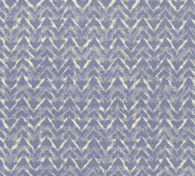 Cotton - Barmillion - 100% cotton fabric covered with horizontal zigzagging lines which have been coloured in various lilac and white shades