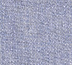 Figured - Linen - A patchily coloured lilac and pale grey fabric made from 100% linen behind a pattern of tiny but regular white dots