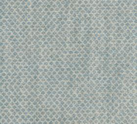 Figured - Linen - N-076 - Two shades of pale blue-grey making up a 100% linen fabric patterned with rows of tiny shapes