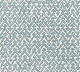 Cotton - Rabanna - Fabric made from blue-grey and white coloured 100% cotton, patterned with zigzag lines and small arrow shapes