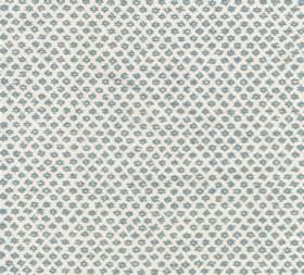 Cotton - Marden - Tiny dark grey shapes printed repeatedly in very regular diagonal rows over crisp white fabric made from 100% cotton