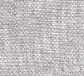 Figured - Linen - N-078 - Mid-grey 100% linen fabric as a background to a repeated pattern of rows of tiny pale grey-white shapes