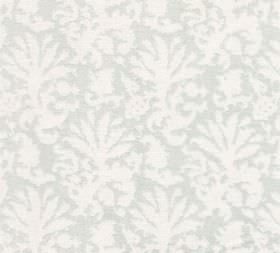 Cotton - Aylsham - Subtly patterned 100% cotton fabric featuring a large pattern of stylised leaf-type designs in white and very pale grey