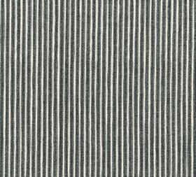 Cotton - Poulton Stripe - L-262 - Monochrome striped fabric with a simple, classic black and white design made entirely from cotton