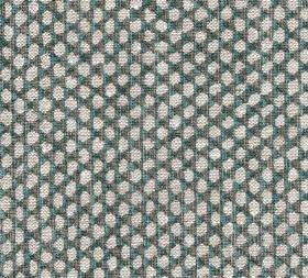 Wicker - Linen - Very dark green-grey as a background to a repeated pattern of irregular oval shapes in off-white on 100% linen fabric