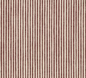 Cotton - Hertford Stripe - L-168 - Vertically striped 100% cotton fabric featuring a simple, regular, repeated pattern in off-white and choc