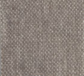 Figured - Linen - Tiny, subtle white dots arranged as a neat pattern over dove grey coloured 100% linen fabric