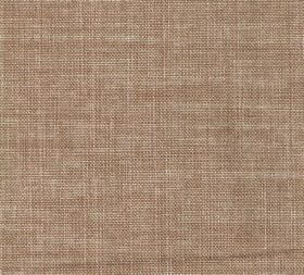 Plain Linen - Quince - Fabric made entirely from linen in a pinkish brown shade with a few cream coloured threads as well