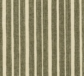 Cotton - York Stripe - Fabric made in a warm cream colour from 100% cotton behind irregularly spaced vertical stripes in very dark grey-gree