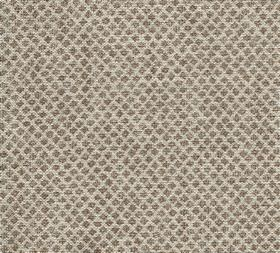 Figured - Linen - N-083 - Tiny dark brown designs arranged in closely spaced diagonal rows over light beige coloured fabric made from 100% l