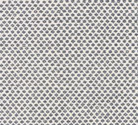 Cotton - Marden - White and charcoal coloured 100% cotton fabric featuring a design of tightly spaced diagonal rows of very small shapes