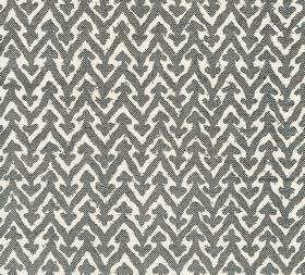 Cotton - Rabanna - 100% cotton fabric printed with a simple dark grey and white design of small arrows on the points of zigzagging lines