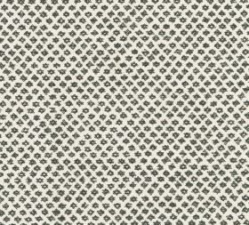 Cotton - Marden - Tiny slate grey coloured shapes creating a neatly arranged design on 100% cotton fabric in a plain shade of white