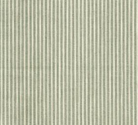 Cotton - Poulton Stripe - Light greyish green and off-white coloured 100% cotton fabric covered with a design of very narrow vertical stripe