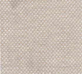 Figured - Linen - N-084 - Rows of tiny patterns, designs and shapes printed on fabric made entirely from beige and cream coloured linen