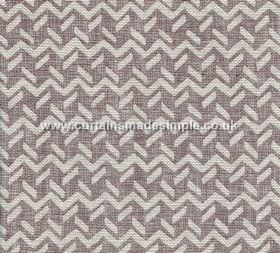 Chiltern - 006 - Horizontally zigzag patterned fabric made from 100% linen, featuring short dashed lines in very pale grey and purple-grey