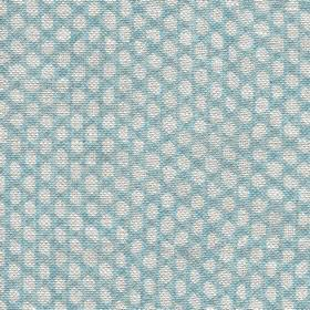 Wicker Linen - 115 - Sky blue and pale grey-white coloured 100% linen fabric woven with a small dot pattern