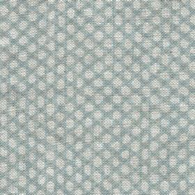 Wicker - Linen - N-116 - 100% linen fabric woven with a small dot design in light shades of grey and blue