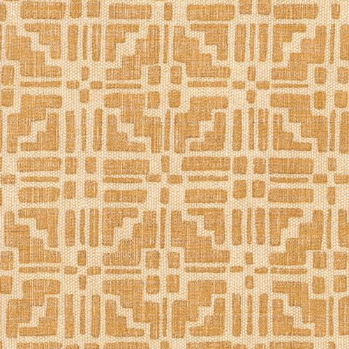 Calimanco - Union - CALI-004 - Fabric made out of linen cotton union decorated with geometric Calimanco pattern in bright beige shade