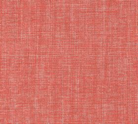 Plain Linen - Tickled Pink - Striking coral and light grey coloured woven 100% linen fabric