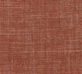 Plain Linen - Corked - Burnt orange, cream and dark red coloured woven fabric made entirely from linen
