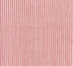 Cotton - Poulton Stripe - L-260 - Dark pink and white pinstripe patterned 100% cotton fabric
